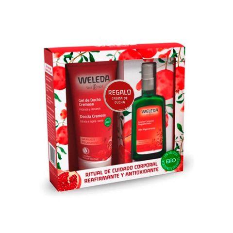 Weleda Pack Navidad Granada Aceite + Gel